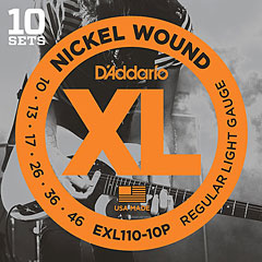 D'Addario EXL110-10P Nickel Wound .010-046 ProPack « Electric Guitar Strings