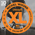Cuerdas guitarra eléctr. D'Addario EXL110-10P Nickel Wound .010-046 ProPack