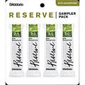 Rieten D'Addario Reserve Altsax Sampler Pack 2,5/3,0/3,0/3,0+