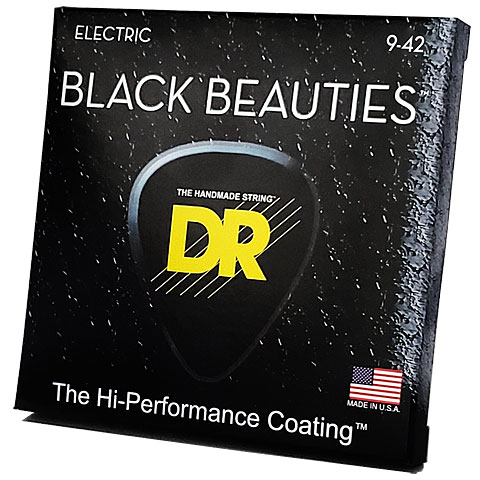 Electric Guitar Strings DR Extra-Life Black Beauties