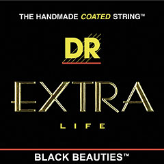 DR Extra-Life Black Beauties « Corde guitare électrique