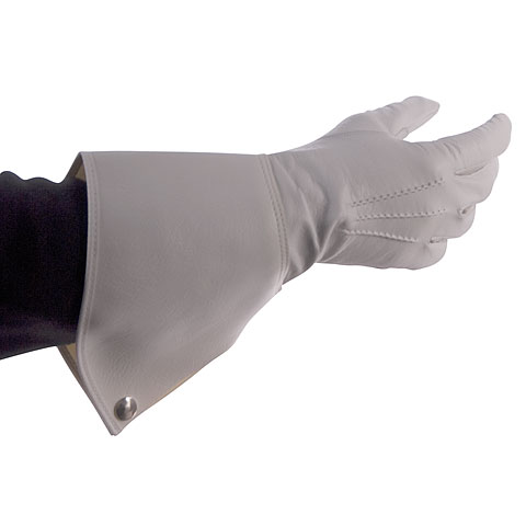 Bold Gauntlet Gloves White Size 7