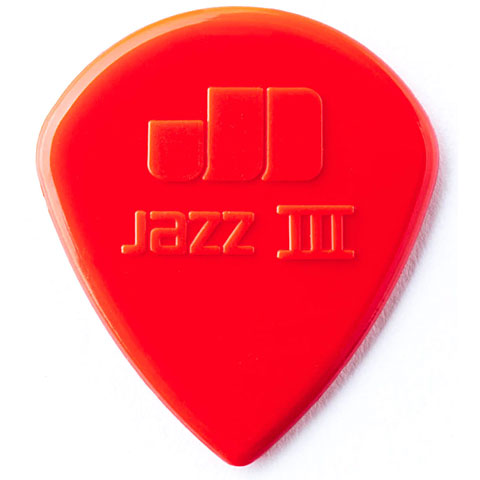 Plektrum Dunlop Nylon Jazz III Red 1,38 mm (6 pcs)
