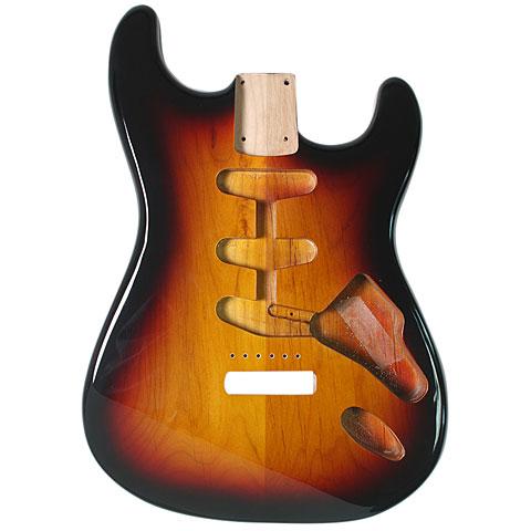 Body Göldo Strat US Erle, 3-Tone Sunburst