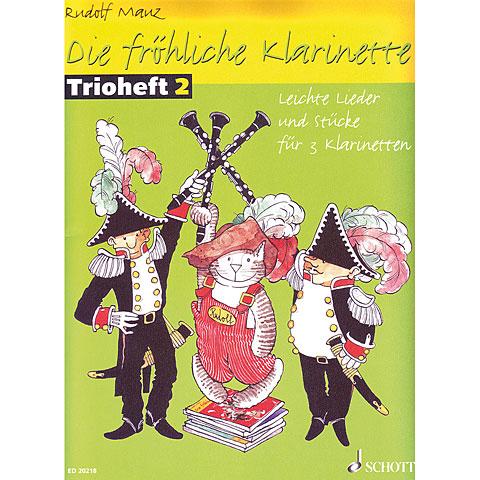 Schott Die fröhliche Klarinette Trioheft 2