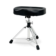 DW 9000 Series Heavy Duty Throne with Motorcycle Seat Top « Drum Throne
