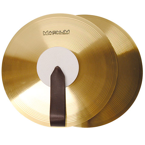 "Magnum Marching Band Cymbals 14"" Brass Pair"