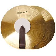 "Magnum Marching Band Cymbals 14"" Brass Pair « Cymbale de fanfare"