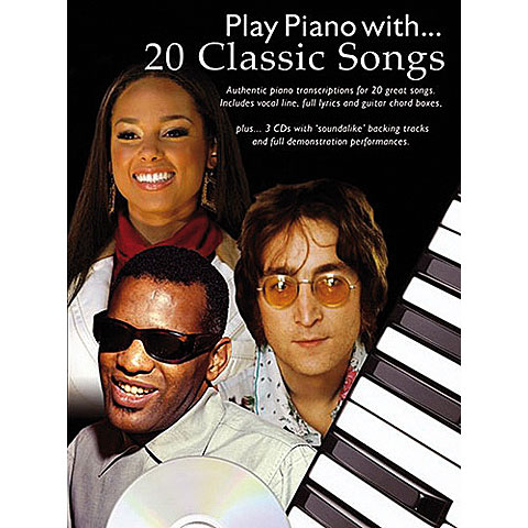 Play-Along Music Sales Play Piano with 20 Classic Songs