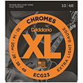 Cuerdas guitarra eléctr. D'Addario ECG23 Chromes .010-048
