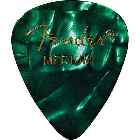 Plektrum Fender 351 Green Moto, medium (12 Stk.)