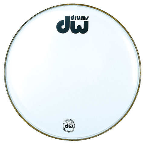 """Parches para bombos DW Bass Drum Head 22"""" White Coated"""